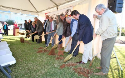 Fine Arts Center Ground Breaking ceremony