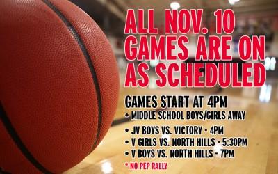 Nov. 10 Basketball Games