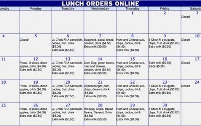 December lunch orders