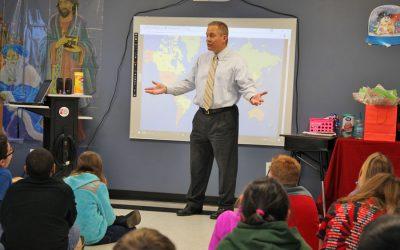 WBTV Al Conklin visit 5th grade