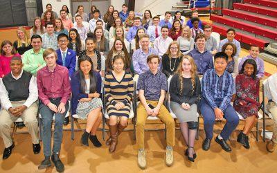 Gaston Christian High School inducts new Beta Club members