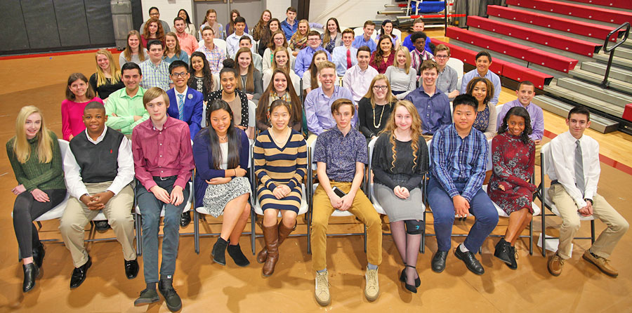 Gaston Christian High School inducts new Beta Club members