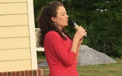 GCS Alumni Arden Darnell sings National Anthem