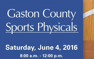 Sports Physicals on June 4th